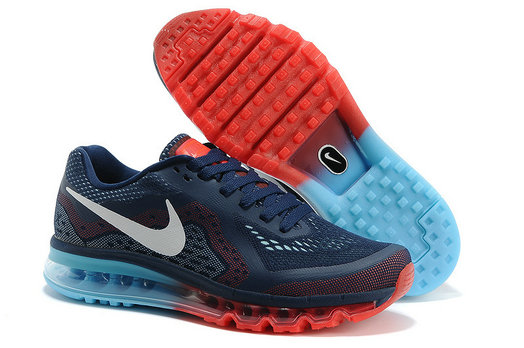Nike Air Max 2014 Mens Running Shoe Dark Blue Red Jade On VaporMaxRunning