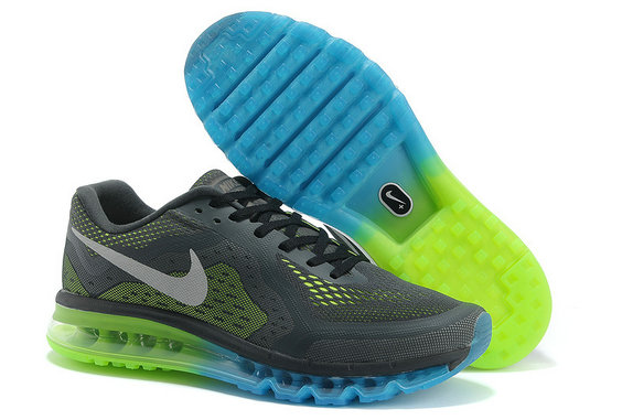 Nike Air Max 2014 Mens Running Shoe Dark Gray Jade Green On VaporMaxRunning
