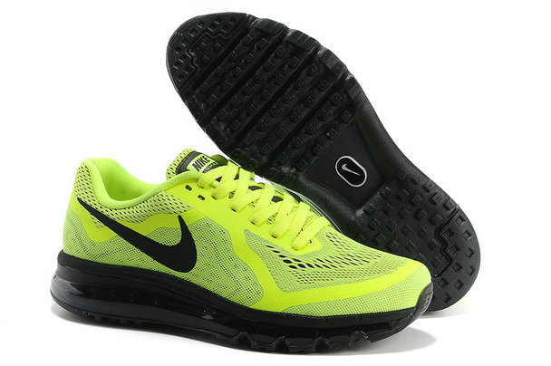 Nike Air Max 2014 Mens Running Shoe Fluorescence Green Black On VaporMaxRunning