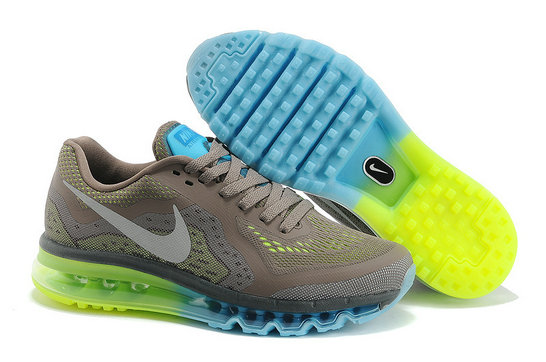 Nike Air Max 2014 Mens Running Shoe Gray Jade Green On VaporMaxRunning