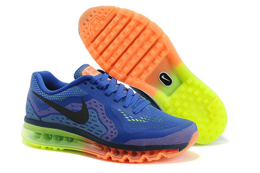 Nike Air Max 2014 Mens Running Shoe Royalblue Orange Green On VaporMaxRunning