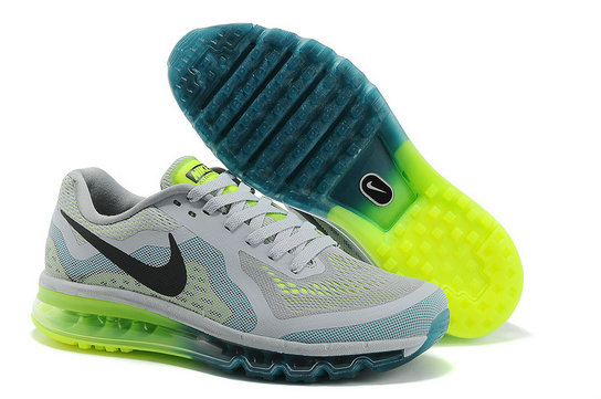 Nike Air Max 2014 Mens Running Shoe White Blackish Green On VaporMaxRunning