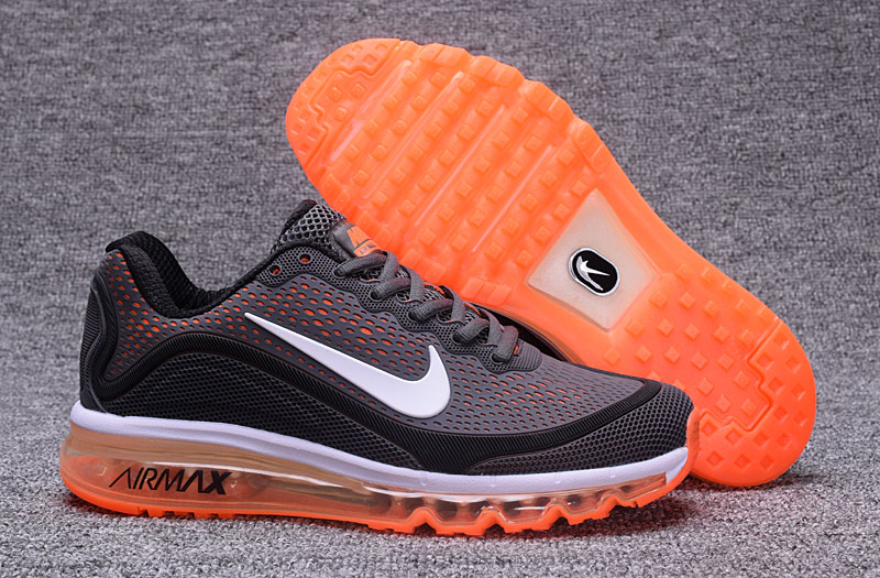 Nike Air Max 2017 Orange Grey Black 898013-120 Cheap Air Max On VaporMaxRunning