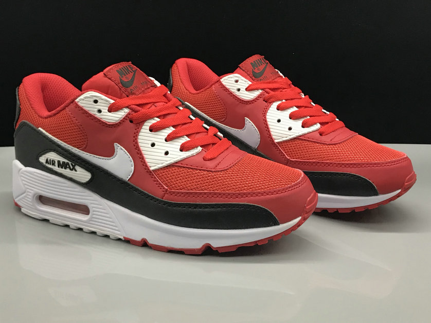 Nike Air Max 90 Classic Fire Red Black White On VaporMaxRunning