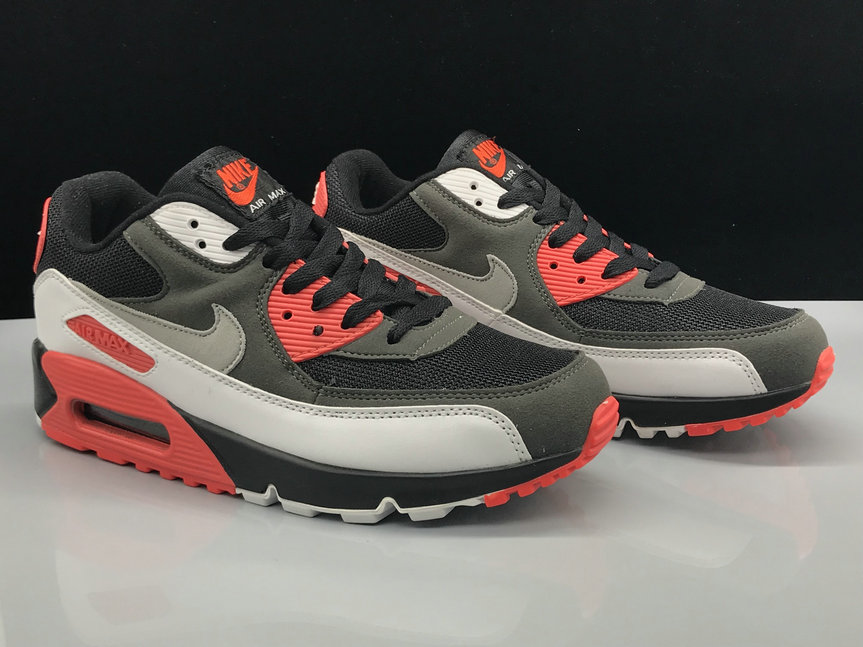 Nike Air Max 90 Classic Grey Black White Red On VaporMaxRunning