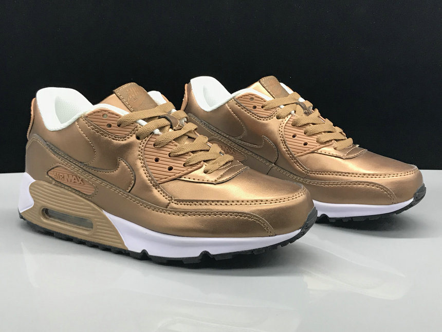 Nike Air Max 90 Classic Rose Gold White On VaporMaxRunning