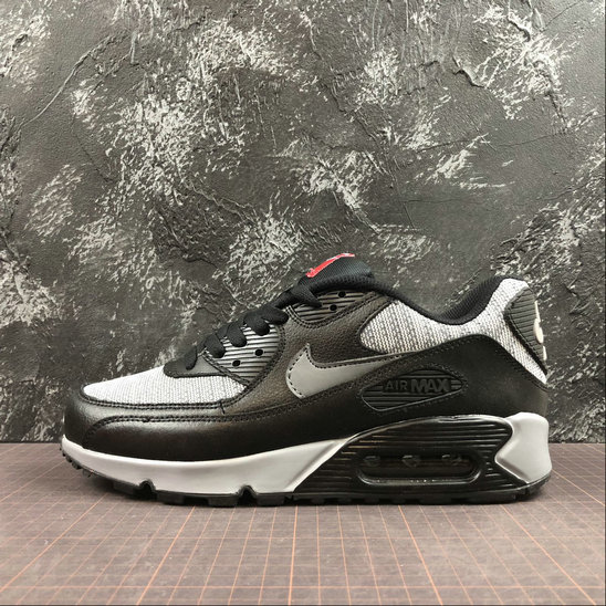 Nike Air Max 90 Essential 537384-065 Black Grey Red Noir Gris Rouge On VaporMaxRunning