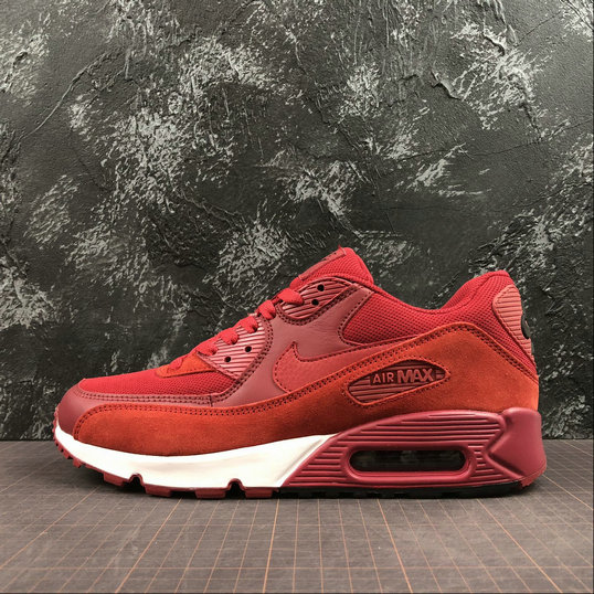 Nike Air Max 90 Essential 537384-604 Dark Red White Rouge Blanc On VaporMaxRunning