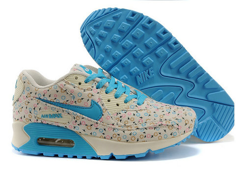 Nike Air Max 90 Floral Print Womens Dandeli On Training ShoesOn VaporMaxRunning