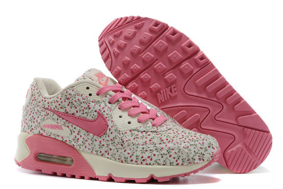 Nike Air Max 90 Floral Print Womens Rhodoleia Training Shoes On VaporMaxRunning