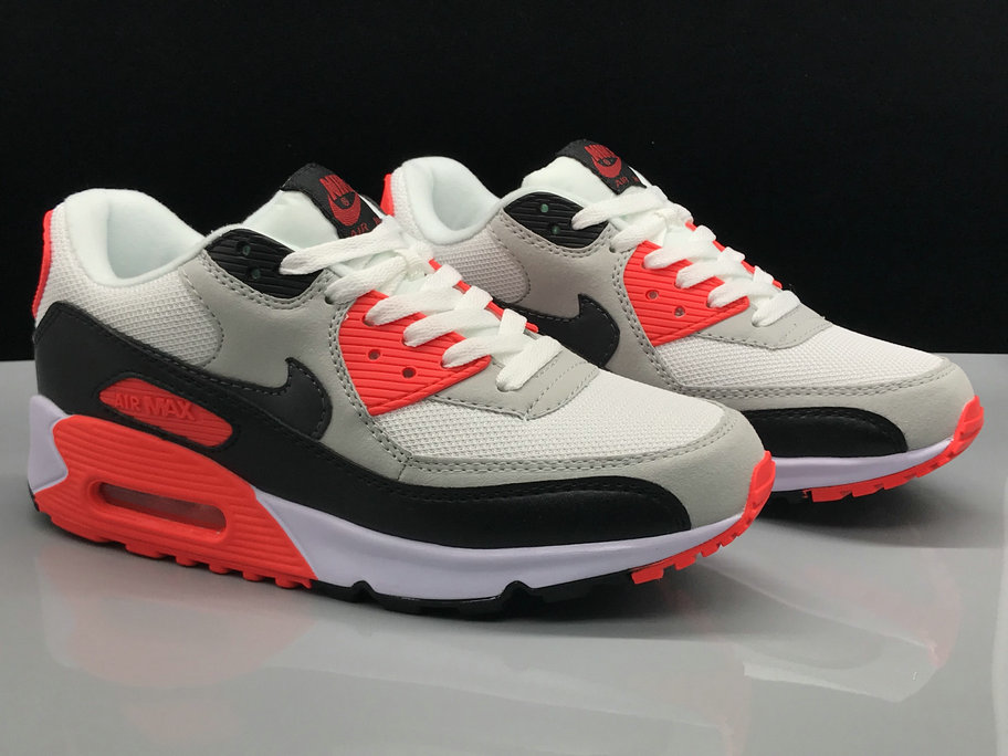 Nike Air Max 90s Classic Red Grey White Black On VaporMaxRunning