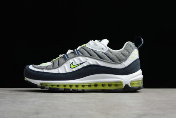Cheap Nike Air Max 98 OG Volt Cool Grey Volt-Black-Metallic Silver Mens Size On VaporMaxRunning