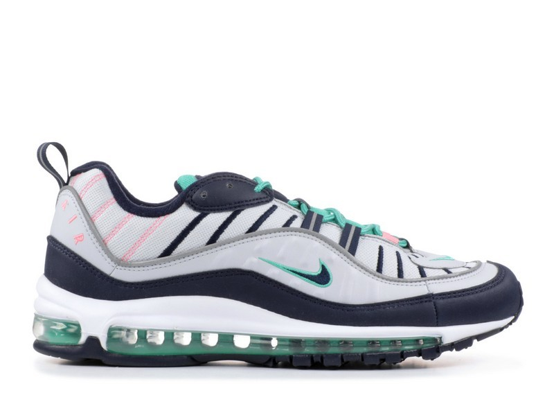 Cheap Nike Air Max 98 South Beach 640744-005 Pure Platinum Obsidian Kinetic Green On VaporMaxRunning