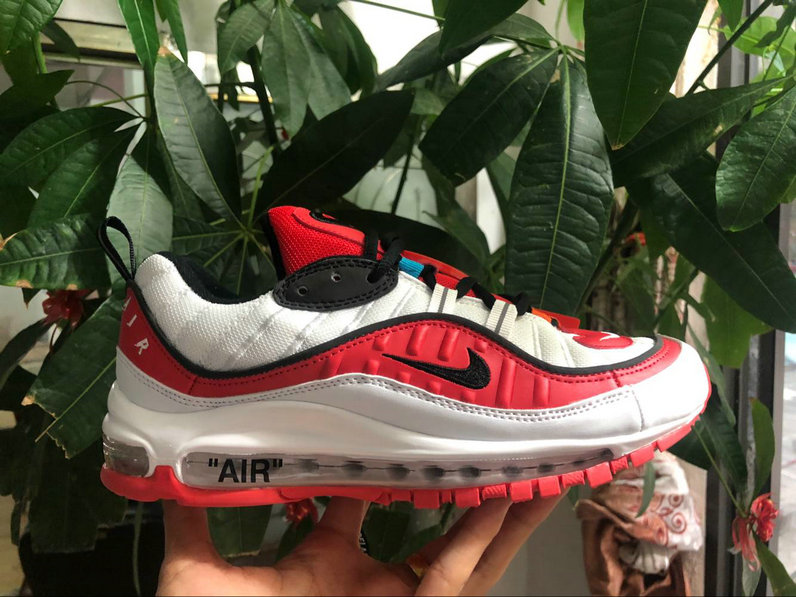 Nike Air Max 98 off-white University Red Black White Come For Sale On VaporMaxRunning