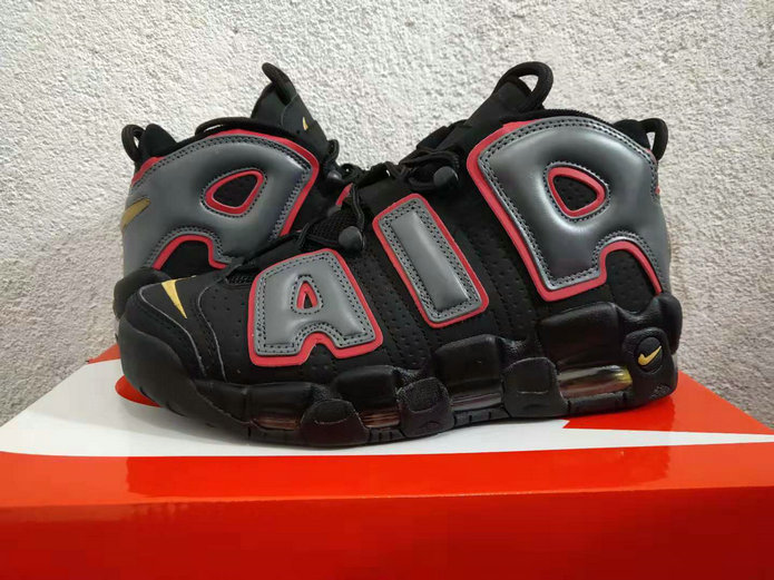 Cheap Nike Air More Uptempo 917593-002 Black Hot Punch-Volt On VaporMaxRunning