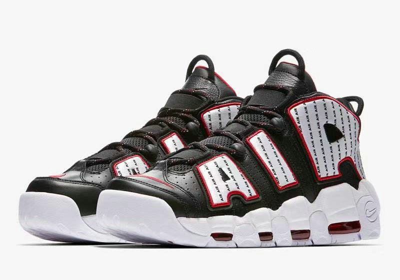 Cheap Nike Air More Uptempo Pinstripe Pack Celebrates 1996 AV7947-001 Black White-University Red On VaporMaxRunning