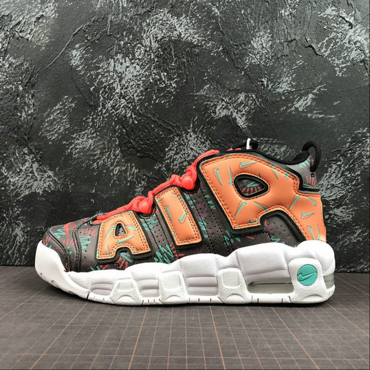 Nike Air More Uptempo Womens AT3408-800 Total Orange Black Hyper Jade Noir On VaporMaxRunning