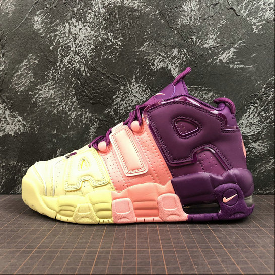 Nike Air More Uptempo Womens AV8237-800 Citron Tint Pink Tint Nuance Rose Pale On VaporMaxRunning