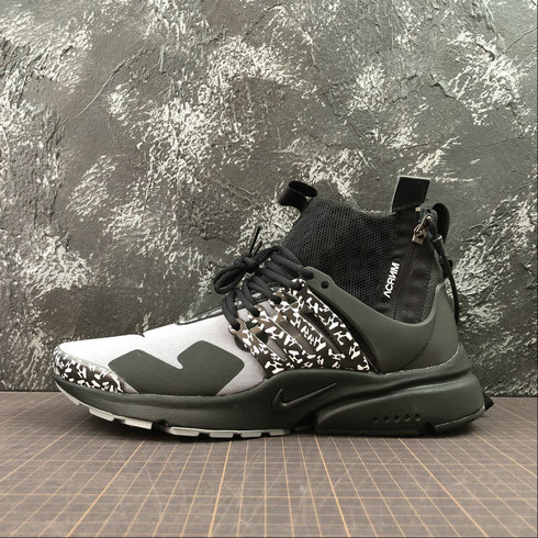 Cheap Nike Air Presto Mid ACRONYM AH7832-001 Cool Grey Black Gris Noir On VaporMaxRunning
