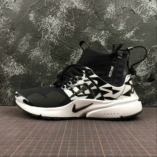 Cheap Nike Air Presto Mid ACRONYM AH7832-003 White Grey Black On VaporMaxRunning