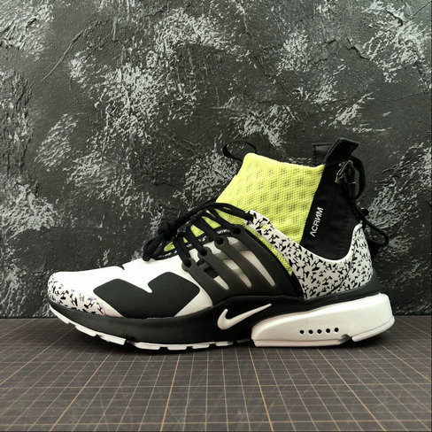 Cheap Nike Air Presto Mid ACRONYM AH7832-600 Fluorescent Green White Black On VaporMaxRunning