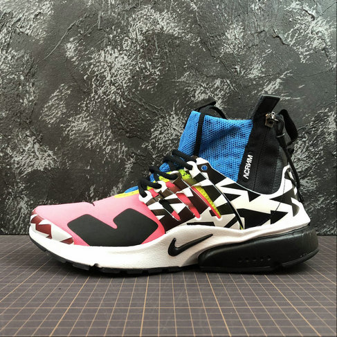Cheap Nike Air Presto Mid ACRONYM AH7832-600 Racer Pink Black Photo Blue Rose Coureur Bleu Noir On VaporMaxRunning