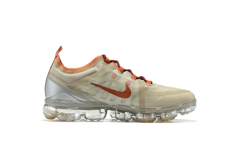 Nike Air VaporMax 2019 Premium Pure Platinum Metallic Gold-Gym Red BQ7038-001 On VaporMaxRunning