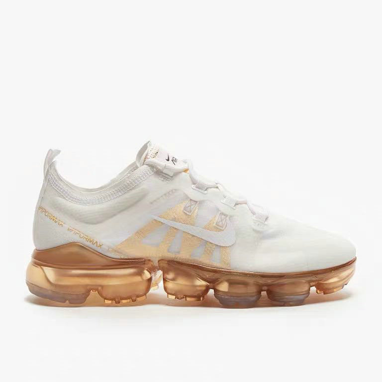 Nike Air VaporMax 2019 Premium White White-Metallic Gold AR6632-101 On VaporMaxRunning