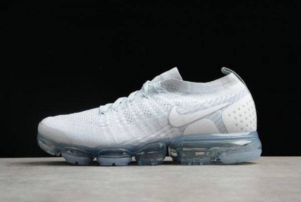 Cheap Nike Air VaporMax Flyknit 2.0 White Grey-White Mens Running Shoes 942842-004 On VaporMaxRunning