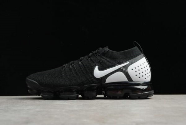 Cheap Nike Air VaporMax Flyknit 2018 2.0 Black White Mens and Womens Size 842842-010 On VaporMaxRunning