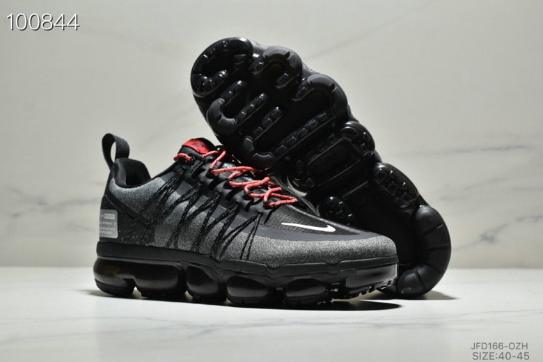 Nike Air VaporMax Run Utility Black Reflective Silver Anthracite Habanero Red On VaporMaxRunning