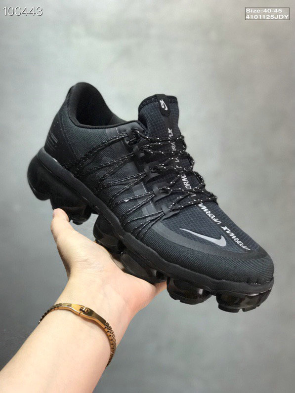 Nike Air VaporMax Run Utility Black Reflective Silver Black Black Men On VaporMaxRunning