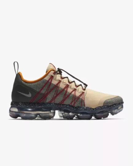 Nike Air VaporMax Run Utility Grey Deep Red Light Cream On VaporMaxRunning