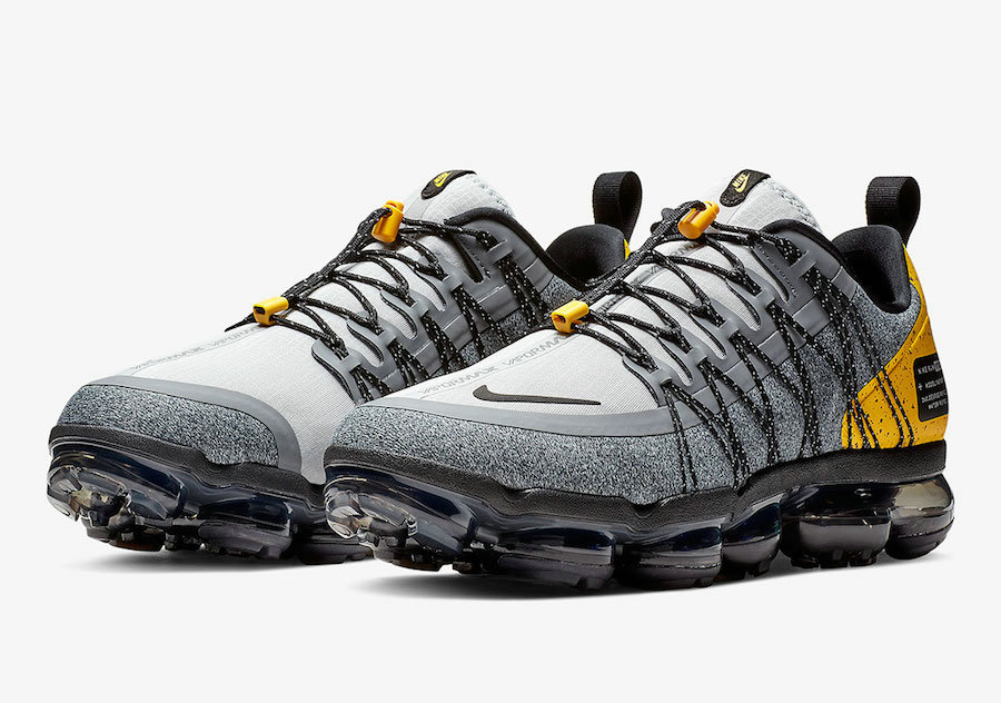 Nike Air VaporMax Run Utility Wolf GreyAmarillo-Cool Grey-Black AQ8810-010 On VaporMaxRunning