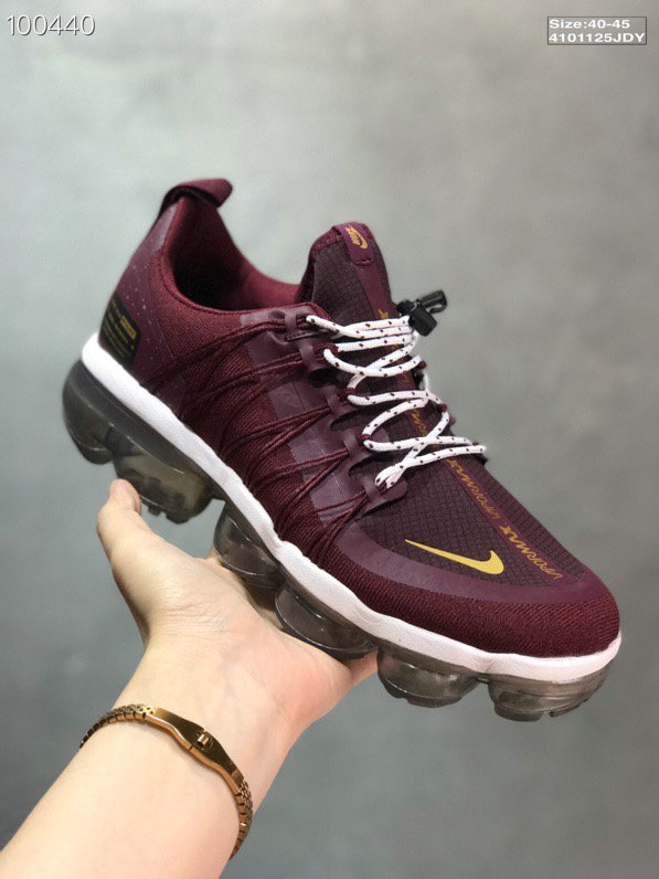 Nike Air VaporMax Utility Burgundy Crush Burgundy Crush Metallic Gold-Burgundy Ash-Sail On VaporMaxRunning