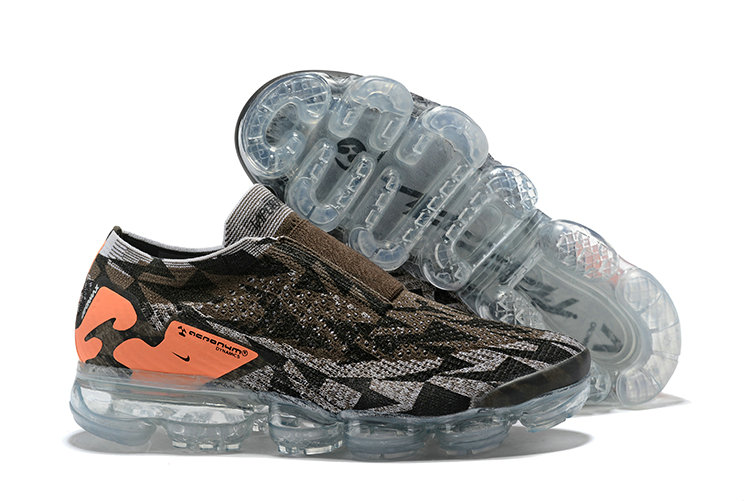 Nike Air Vapormax FLYKNIT MOC 2 Acronym Mens Chocolate Orange Grey Black On VaporMaxRunning