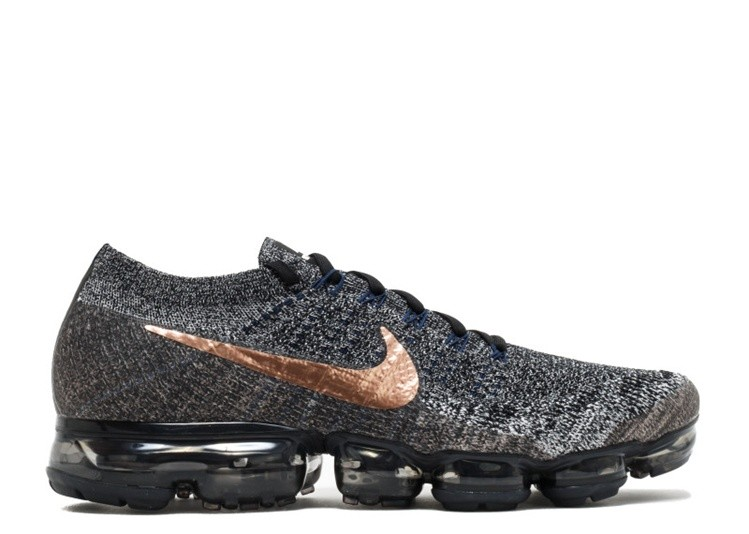 Cheap Nike Air Vapormax Flyknit Explorer Dark 849558-010 Black Metallic Red Bronze College Navy On VaporMaxRunning