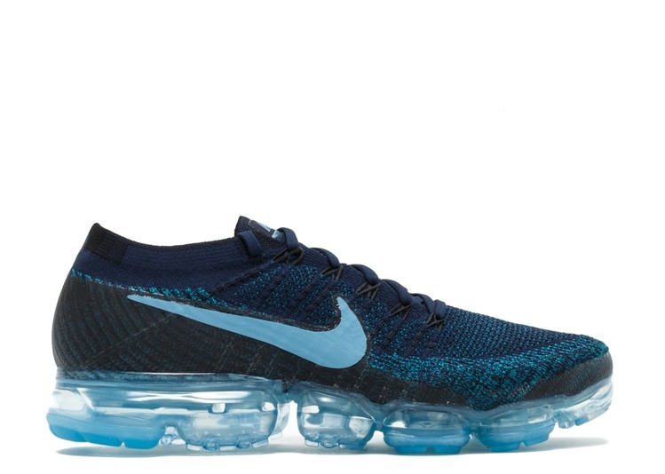 Cheap Nike Air Vapormax Flyknit Jd Sports 849558-405 College Navy Blustery Black Cerulean On VaporMaxRunning