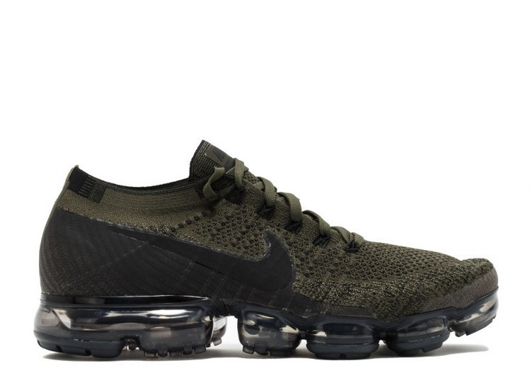 Cheap Nike Air Vapormax Flyknit Mens Running Shoe 849558-300 Cargo Khaki Black-Medium Olvie On VaporMaxRunning
