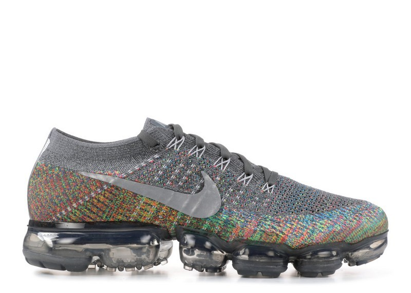 Cheap Nike Air Vapormax Flyknit Multicolor 849558-019 Dark Grey Reflect Silver Blue Orbit On VaporMaxRunning