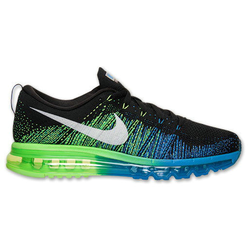 Nike Flyknit Air Max Black Blue Turbo Green On VaporMaxRunning