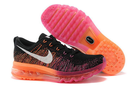 Nike Flyknit Air Max Black Pink Orange Red On VaporMaxRunning