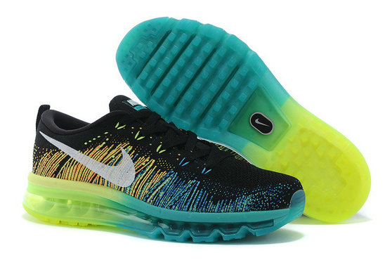 Nike Flyknit Air Max Black Water Blue Green On VaporMaxRunning