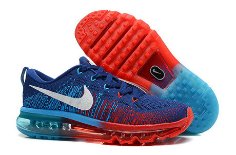Nike Flyknit Air Max Dark Blue Red Blue On VaporMaxRunning