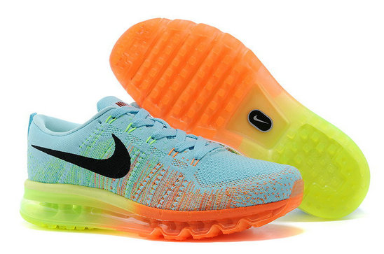Nike Flyknit Air Max Pink Blue Orange Black On VaporMaxRunning