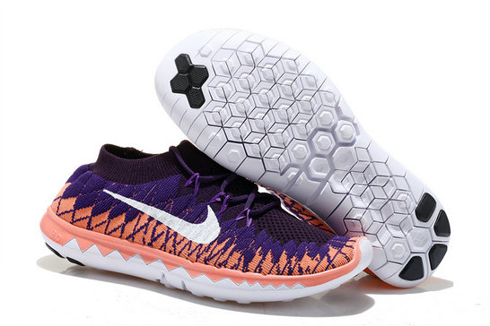 Nike Free 3.0 Flyknit Women Purple Orange On VaporMaxRunning