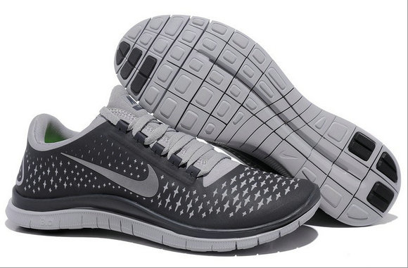 Nike Free 3.0 V4 Mens Running Shoe Anthracite Reflect Silver Wolf Grey On VaporMaxRunning
