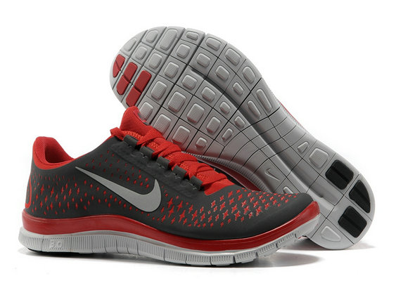 Nike Free 3.0 V4 Mens Running Shoe Black Gym Red Wolf Grey On VaporMaxRunning