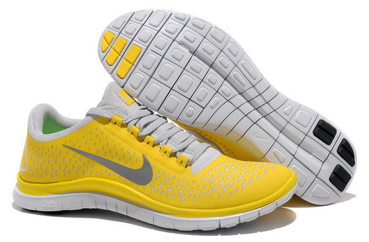 Nike Free 3.0 V4 Mens Running Shoe Chrome Yellow Reflect Silver Platinum On VaporMaxRunning