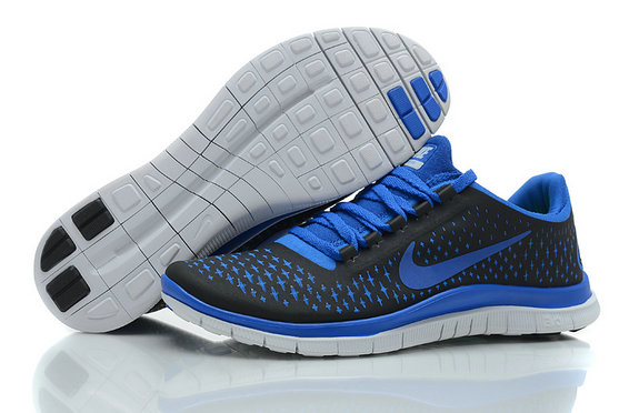 Nike Free 3.0 V4 Mens Running Shoe Coal Black Royalblue On VaporMaxRunning